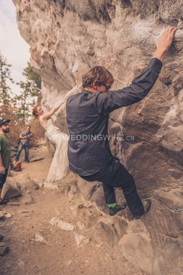 Bouldering at Reception