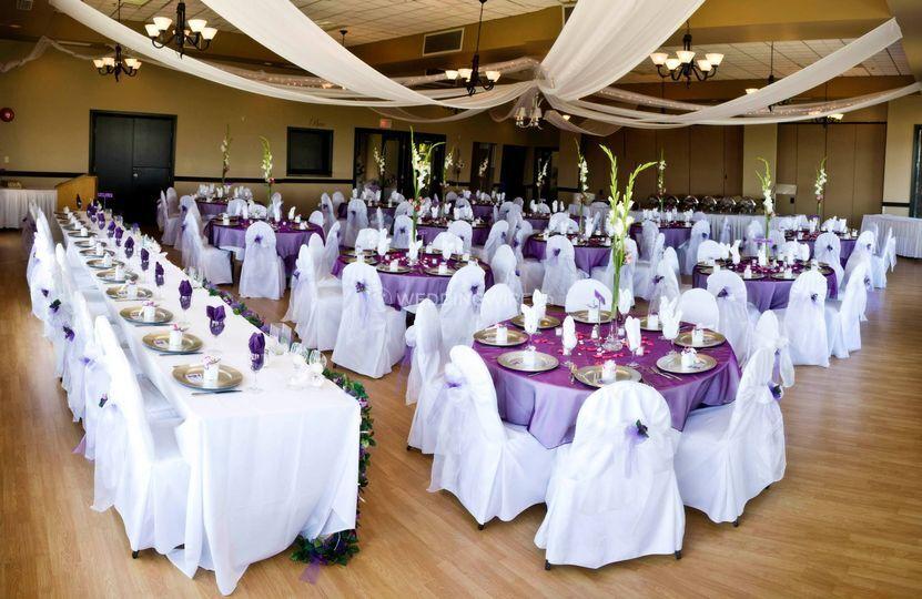 British Columbia wedding reception