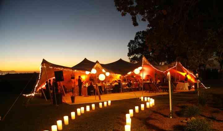 Wedding Tent, great lighting