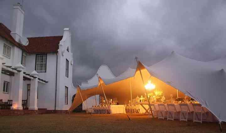 Wedding tent, Chandelier
