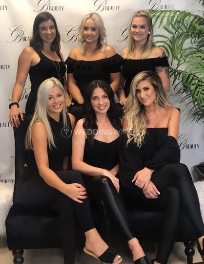The CB Beauty Bridal Team