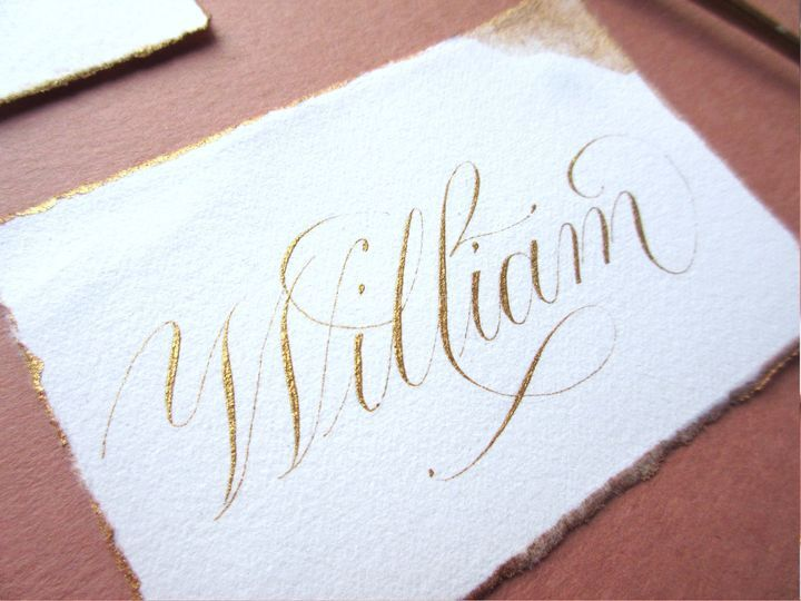 Hand Detailed Place Cards