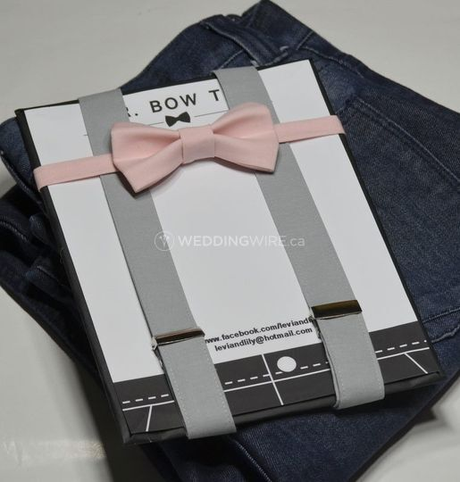 Bow Tie and Suspenders Set