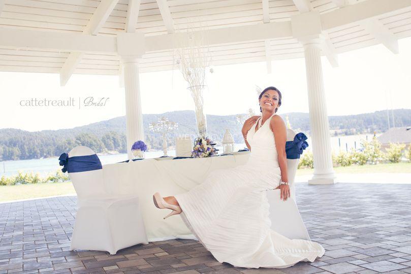 Bride under Gazebo