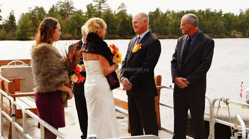 Up north weddings on the dock