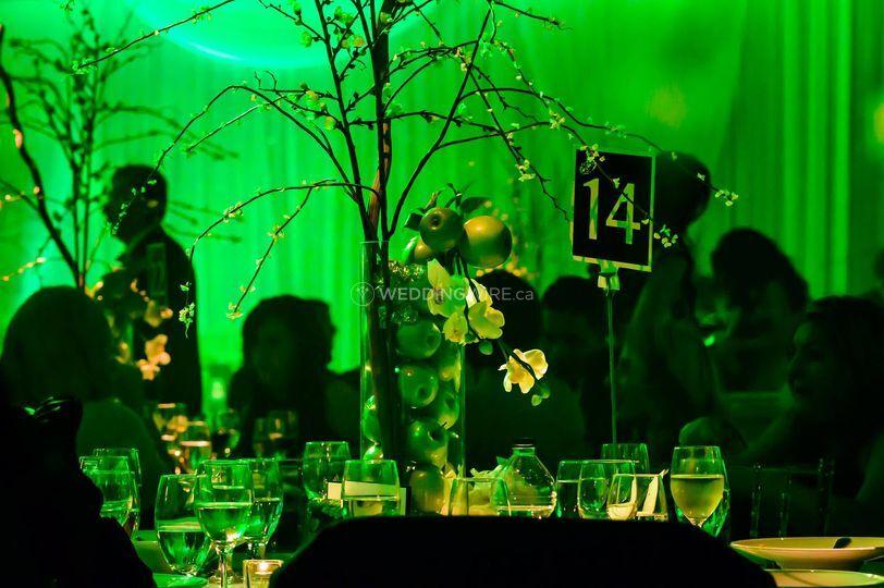 Saint-Leonard, Quebec wedding reception, decor