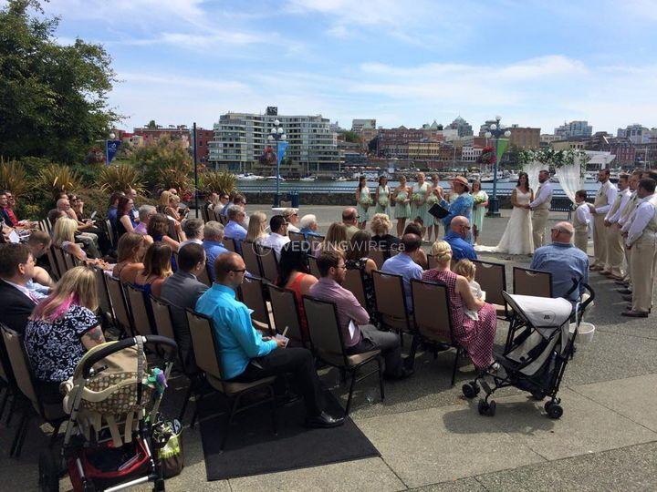 Inner harbour wedding victoria