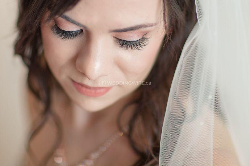 Rose Gold glowing bride