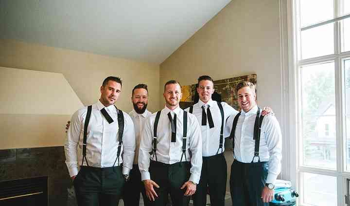 Groomsmen in our black bowties