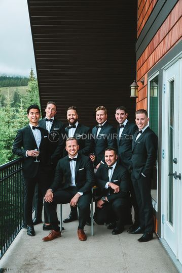 Groomsmen in our black bowties