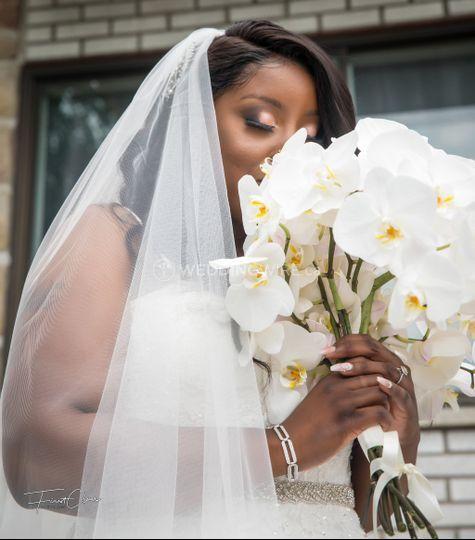 Bride makeup look