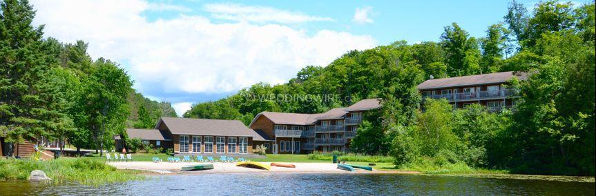 Resort from water in summer