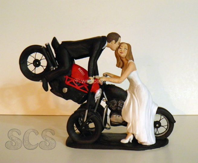 Custom wedding cake topper harley davidson ducati3.jpg