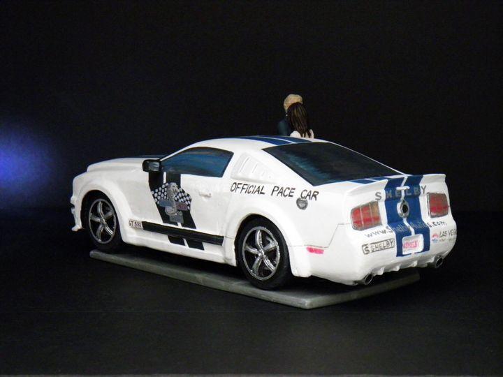 Custom Wedding Cake Topper Mustang Shelby Official Pace Car 3.jpg