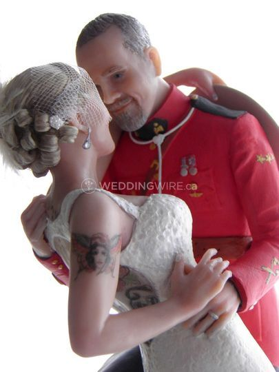 RCMP and bride cake topper