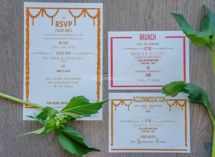 Invite inserts