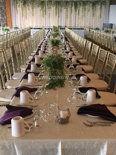 Long tables in eggplant