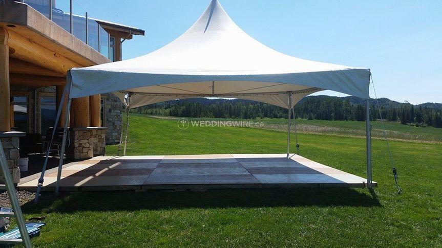 Marquee Tent Over Dance Floor