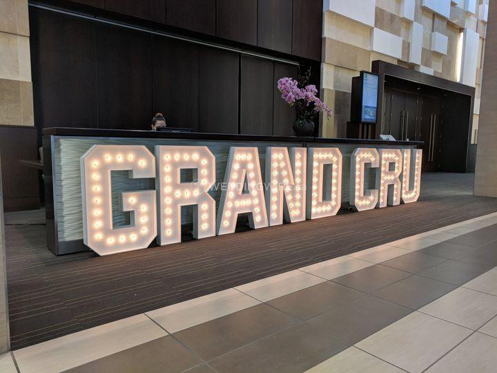 Marquee Letters - GRAND CRU
