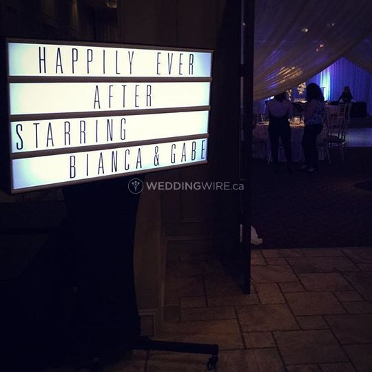 Cinema Light Box - Wedding