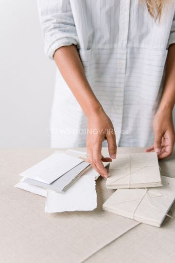 Thoughtful wedding paper