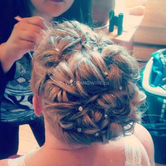 Bridal formal hair styling
