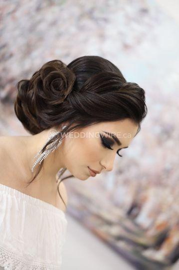 Glam Bridal Hair and Makeup