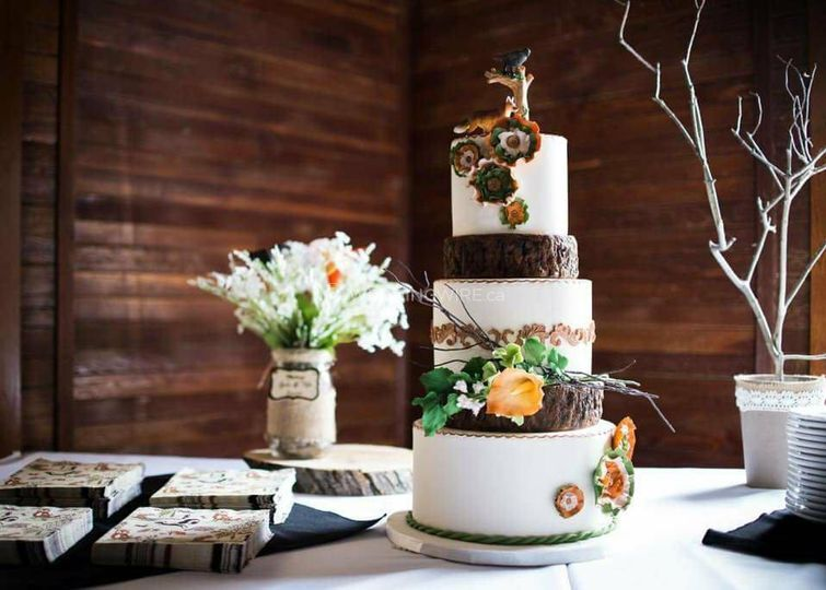 Rustic Victorian cake