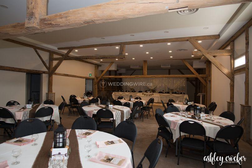 Inside Commons Barn