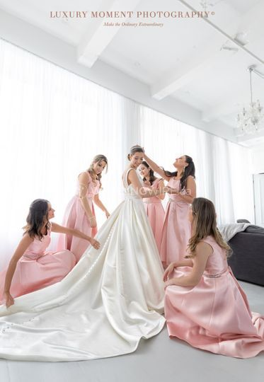 Bridesmaids at work