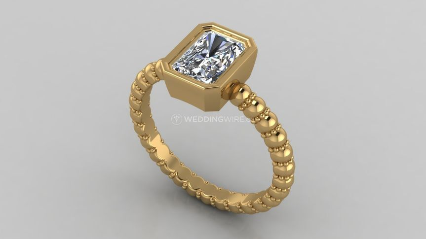 Bezel Solitaire Ring