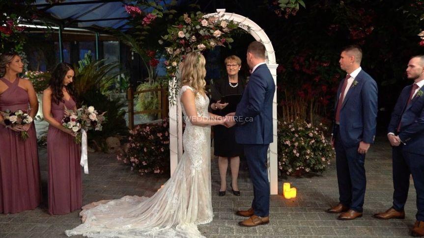 Gorgeous Greenhouse Ceremony