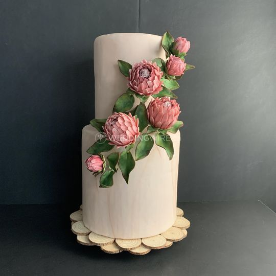 Protea sugar flower cascade