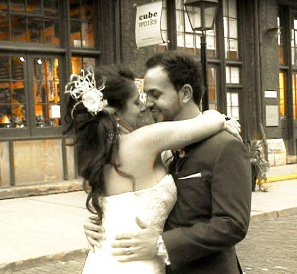 North York, Ontario wedding couple
