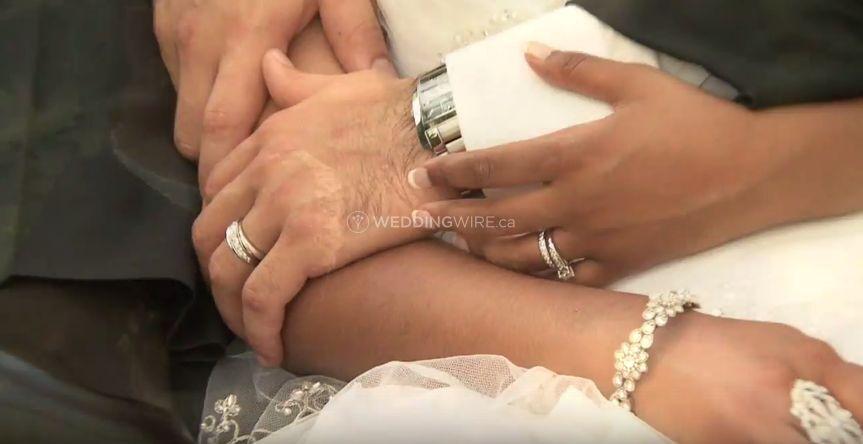 North York, Ontario wedding couiple