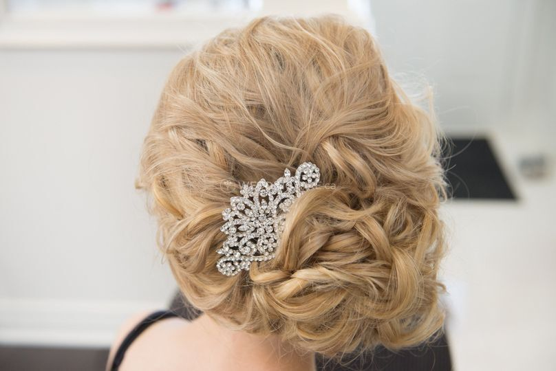 Side Updo with Hair Extensions