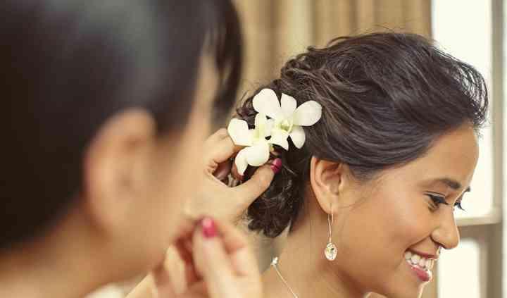 Tousled Bridal Updo