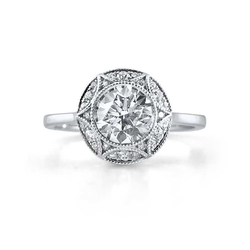 Embellished Diamond Halo