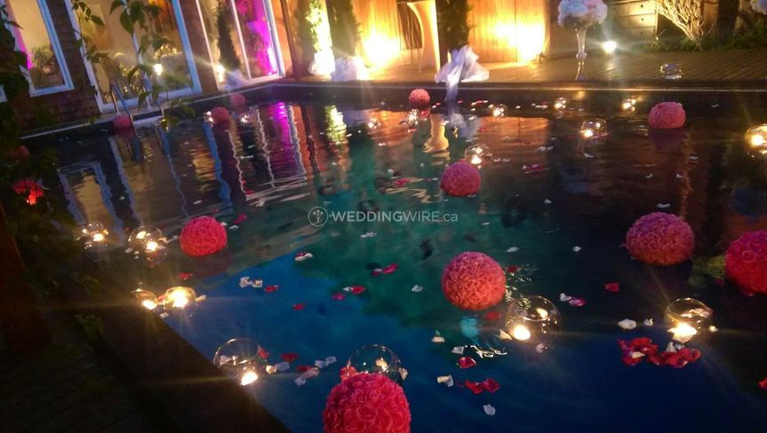 Pool and floating decorations