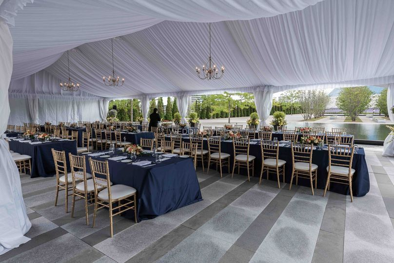 Tented park wedding