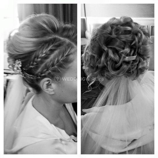 Bride's hairis ready