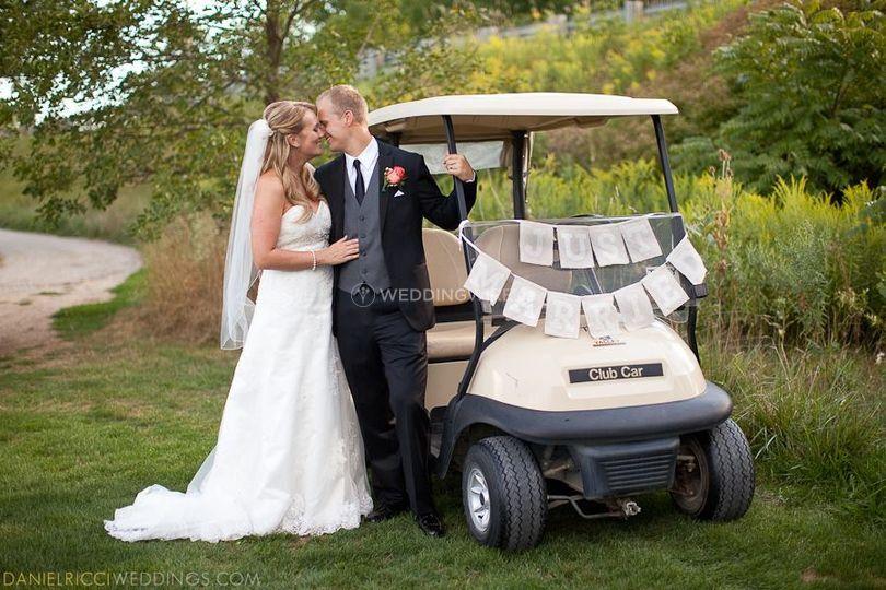 Golf club wedding