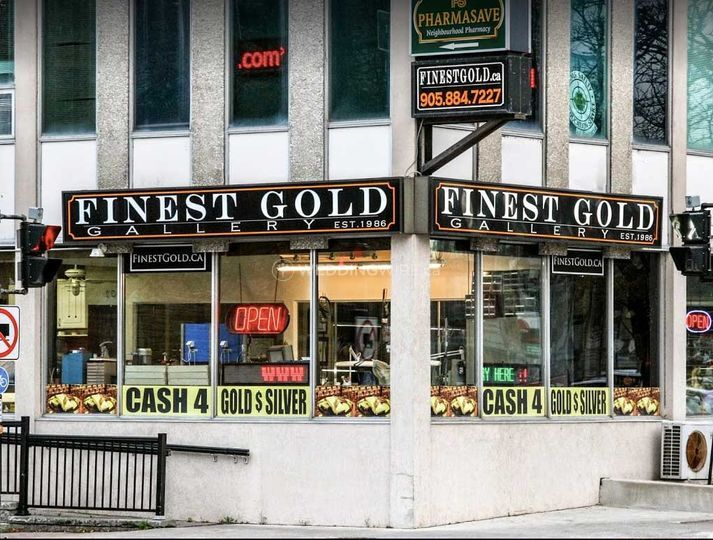 Outside of Finest Gold Gallery