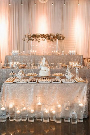 Ivory and Blush Setting