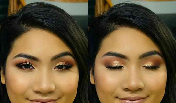 Bronzey glowing makeup