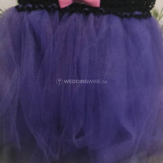 Bold purple puff