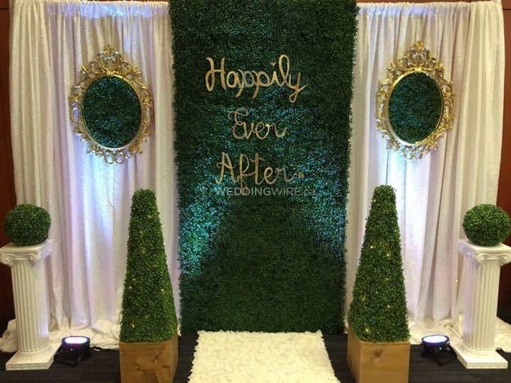 Wedding arch setup
