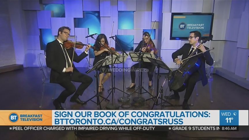GTA Strings at Breakfast TV