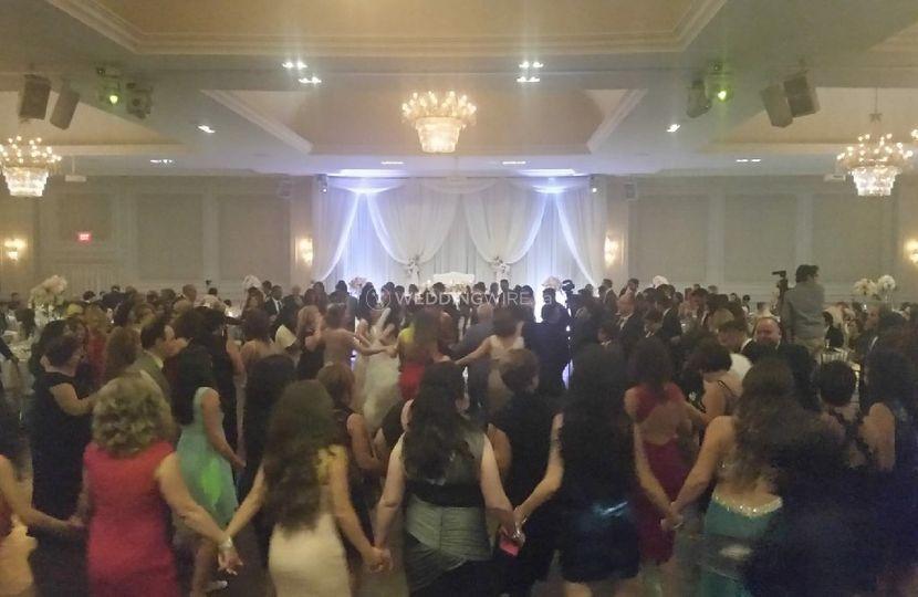 Dancing crowd