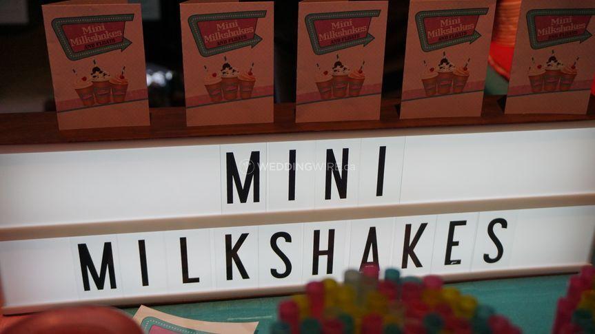 Mini Milkshakes signage
